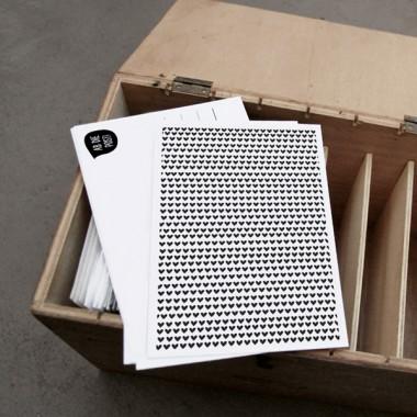 kleiner mensch Herzenkarten Set –  3 Stück (schwarz/weiß)