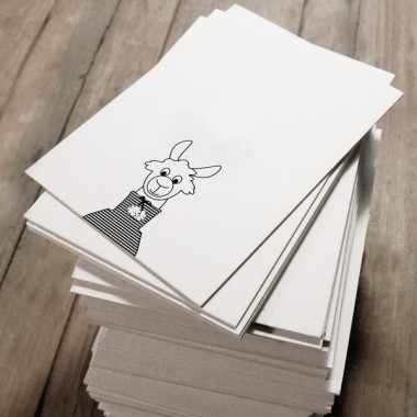kleiner mensch Lamakarten Set –  10 Stück (schwarz/weiß)