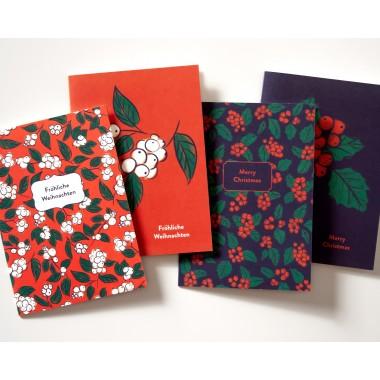 BUNDLE * Edle Weihnachtskarten mit passendem Geschenkpapier // Papaya paper products