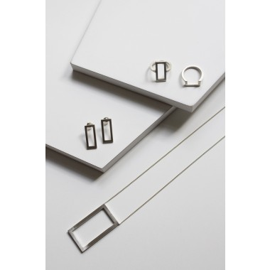 """puur.jewellery Ohrring """"rectangle"""""""