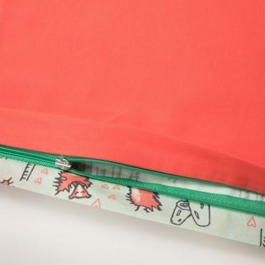 Schön, oder? Verliebte Stinktiere - Bettwäsche - 100 x 135 / 60 x 40 cm - Green Lily / Hot Moral