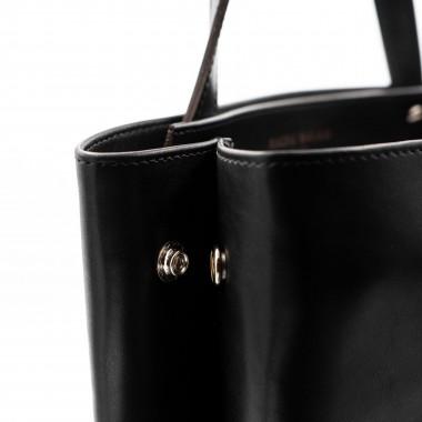 Shopper schwarz – aus premium pflanzlich gegerbtem Leder