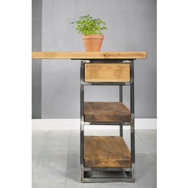 FraaiBerlin – Kleiner Schreibtisch aus Bauholz Siara