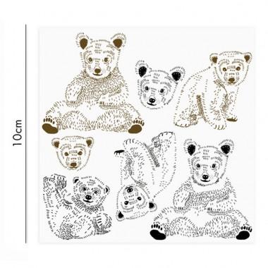 Bären Porzellansticker