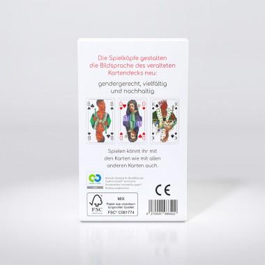 Spielköpfe Spielkarten Geschenke-Set: Doppelkopf und Das Komplette Deck