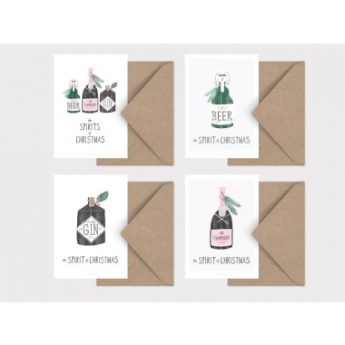 typealive / Weihnachtskarten 4er Set / Spirit of Christmas