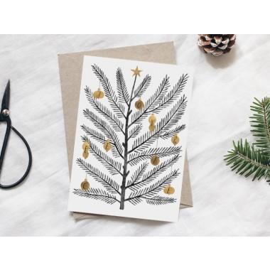 typealive / Weihnachtskarten 4er Set / Swedish Fir