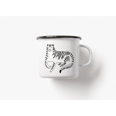 typealive / Emaillebecher Tasse / Tiger