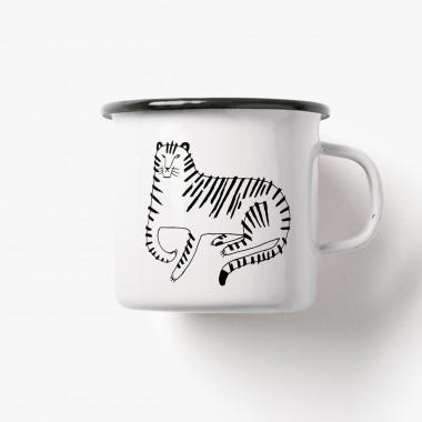 typealive / Emaillebecher Tasse / Tiger