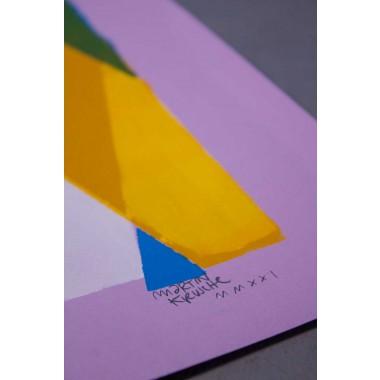 Martin Krusche - Schablonendruck »Teatime« 50x70cm