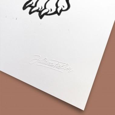 Juliana Fischer - Tiger - Linoldruck, schwarz, 50x70cm