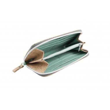 PETREA Portemonnaie Kork Natur Mint