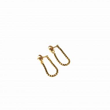 ST'ATOUR VENEZIA – Ohrhänger mit Kettendetail in Gold, Silber oder Roségold