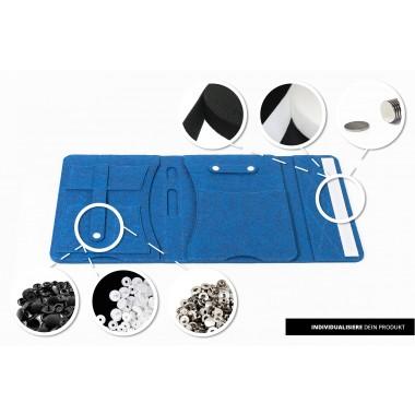 RÅVARE Tablet Organizer für kleine und mittlere Tablets ≤10.1″ mit Schreibblock, iPad, Samsung in blau [KORA M]