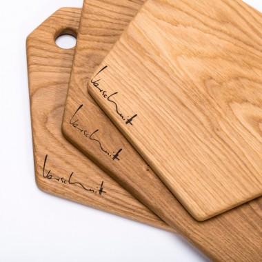 SCHNEIDEBRETT | Brettchen aus massivem Eichenholz von Verschnitt