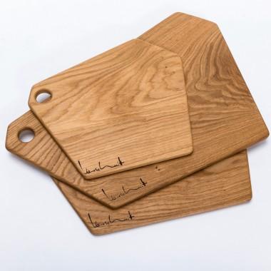 SCHNEIDEBRETT | Größe L | Brettchen aus massivem Eichenholz von Verschnitt