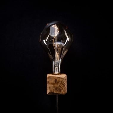 KUBUS | Wandleuchte aus Holz von Verschnitt mit Leuchtmittel VORONOI II von Tala