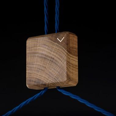 MONDLEUCHTE   Hängeleuchte aus Eichenholz von Verschnitt