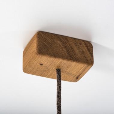 """Hängeleuchte """"Möwe"""" aus Holz von Verschnitt"""