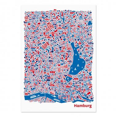 vianina hamburg poster 70 x 100. Black Bedroom Furniture Sets. Home Design Ideas
