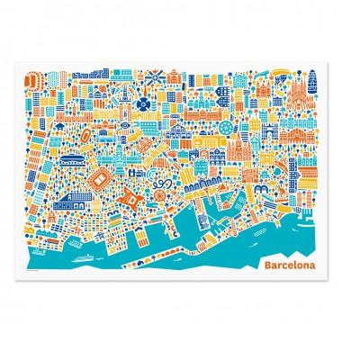 Vianina Barcelona Poster 100 x 70