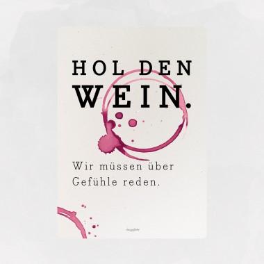 designfeder | Postkarte (DIN A5) Hol den Wein