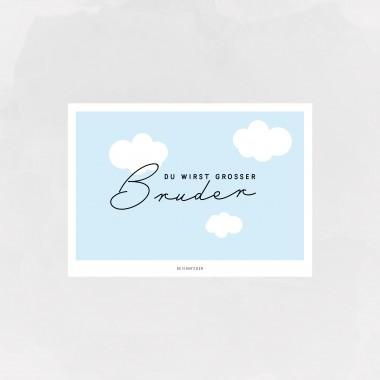 designfeder | Postkarte Du wirst großer Bruder