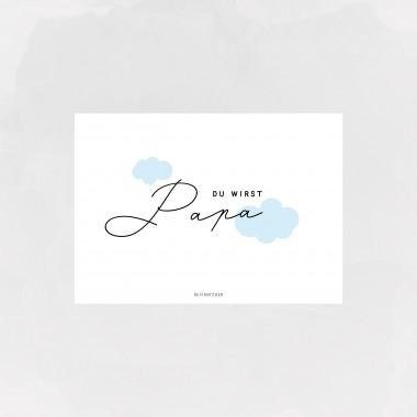 designfeder | Postkarte Du wirst Papa