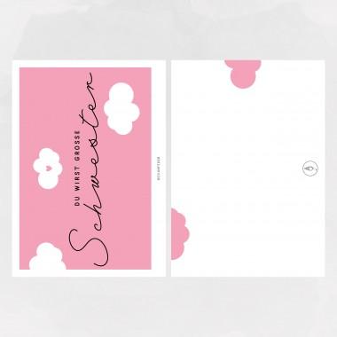 designfeder | Postkarte Du wirst große Schwester