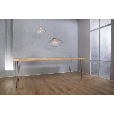 Esstisch aus Altholz Eiche & Eisen Vrolijk 180 x 85 cm