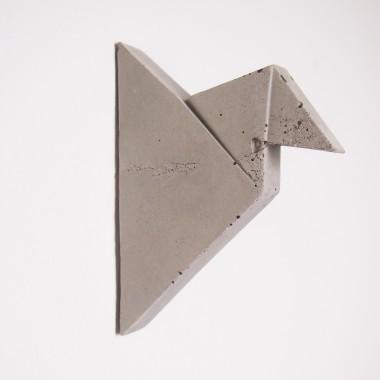 moij design hoken - Wandhaken aus Beton im Origamidesign