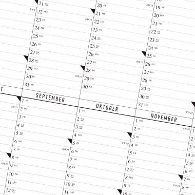 Der A1 Wandkalender 2021 mit Posterleiste