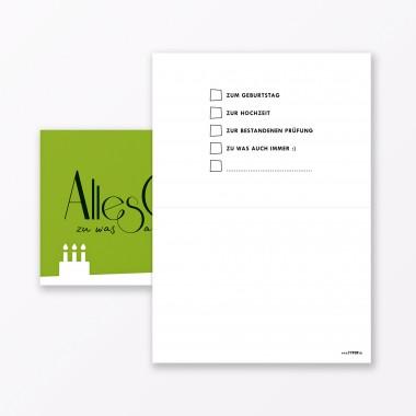 """TYPOP 10-teiliges Set Geburtstagskarte """"Alles Gute zu was auch immer"""" // Klappkarten DIN A6 inkl. Umschläge weiss"""