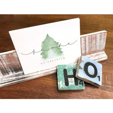 10 x Weihnachtskarten mit Wasserfarbe und Handlettering