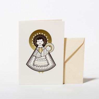 Wednesday Paper Works - Maria Grußkarte / Weihnachtskarte