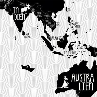"A1 Plakat ""Weltkarte"" s/w"