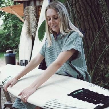 We Make Patterns - Handtuch  Poncho Mint