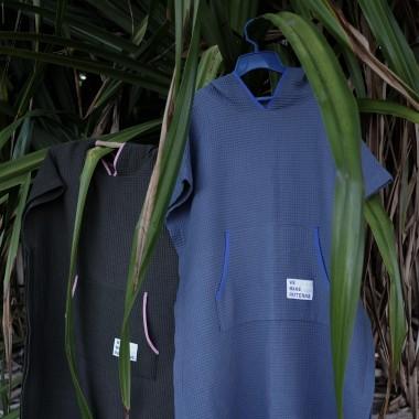 We Make Patterns - Surf Poncho Blue