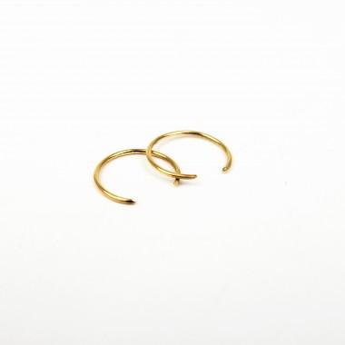 ST'ATOUR XENIA MINI – offene Creolen in Gold, Silber oder Roségold