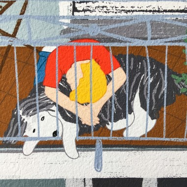 "Neighbour Series ""Neighbour No. 18"" – YUKY RYANG, Giclée-Druck, Format 28 x 28 cm"