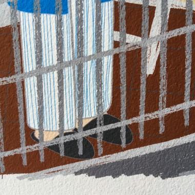 "Neighbour Series ""Neighbour No. 33"" – YUKY RYANG, Giclée-Druck, Format 28 x 28 cm"