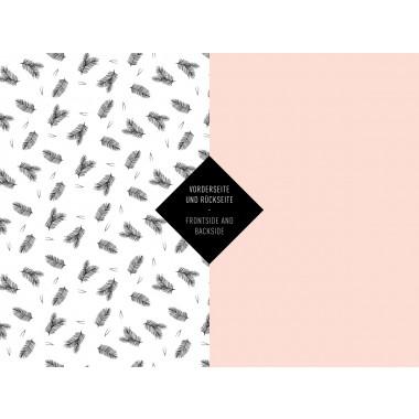 5x Geschenkpapier / Zweige No. 1 (gefaltet)