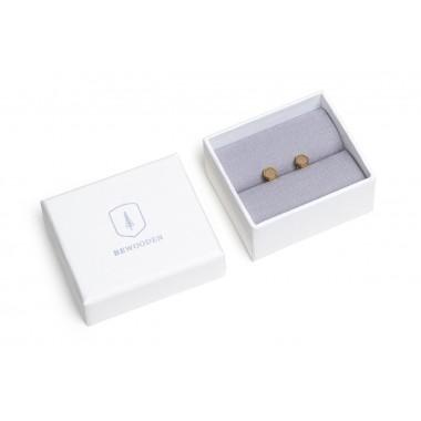 BeWooden Ohrringe, Ohrstecker mit Holzdetail - Apis Earrings Hexagon