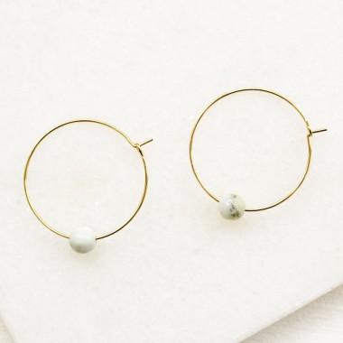 Gudbling // Amazonit Ohrringe Vergoldet