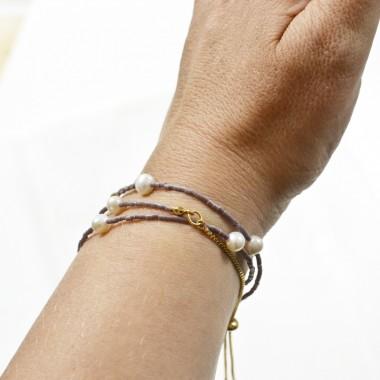 Gudbling // Filigrane Perlenkette und Wickelarmband