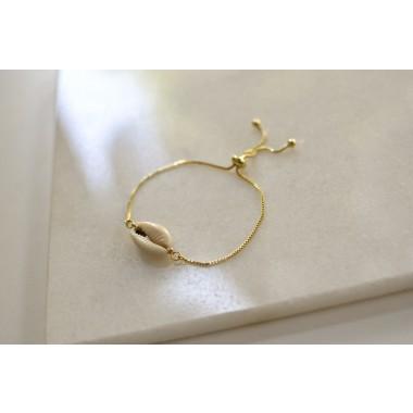 Gudbling // Vergoldetes Armband mit Kauri Muschel