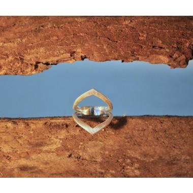 "Ring ""Abgeneigt"" aus 925/- Silber"