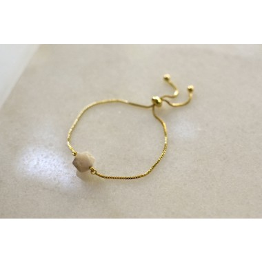 Gudbling // Vergoldetes Armband mit Bambus Achat