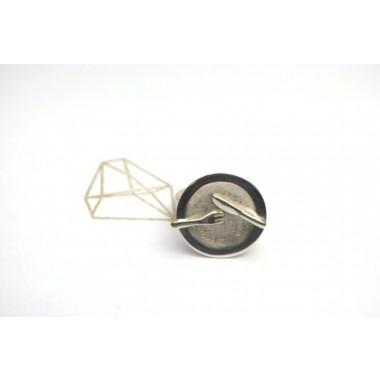"""TAFELSILBER  Ring """"Teller"""" aus 925/- Silber"""