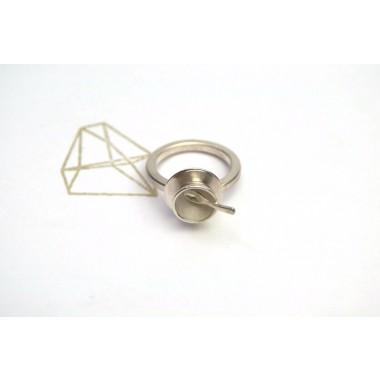 """TAFELSILBER  Ring """"Schüssel"""" aus Silber"""